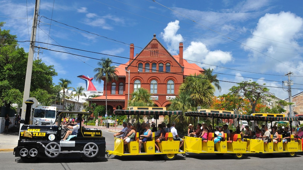 Aboard the Conch Tour Train in Key West