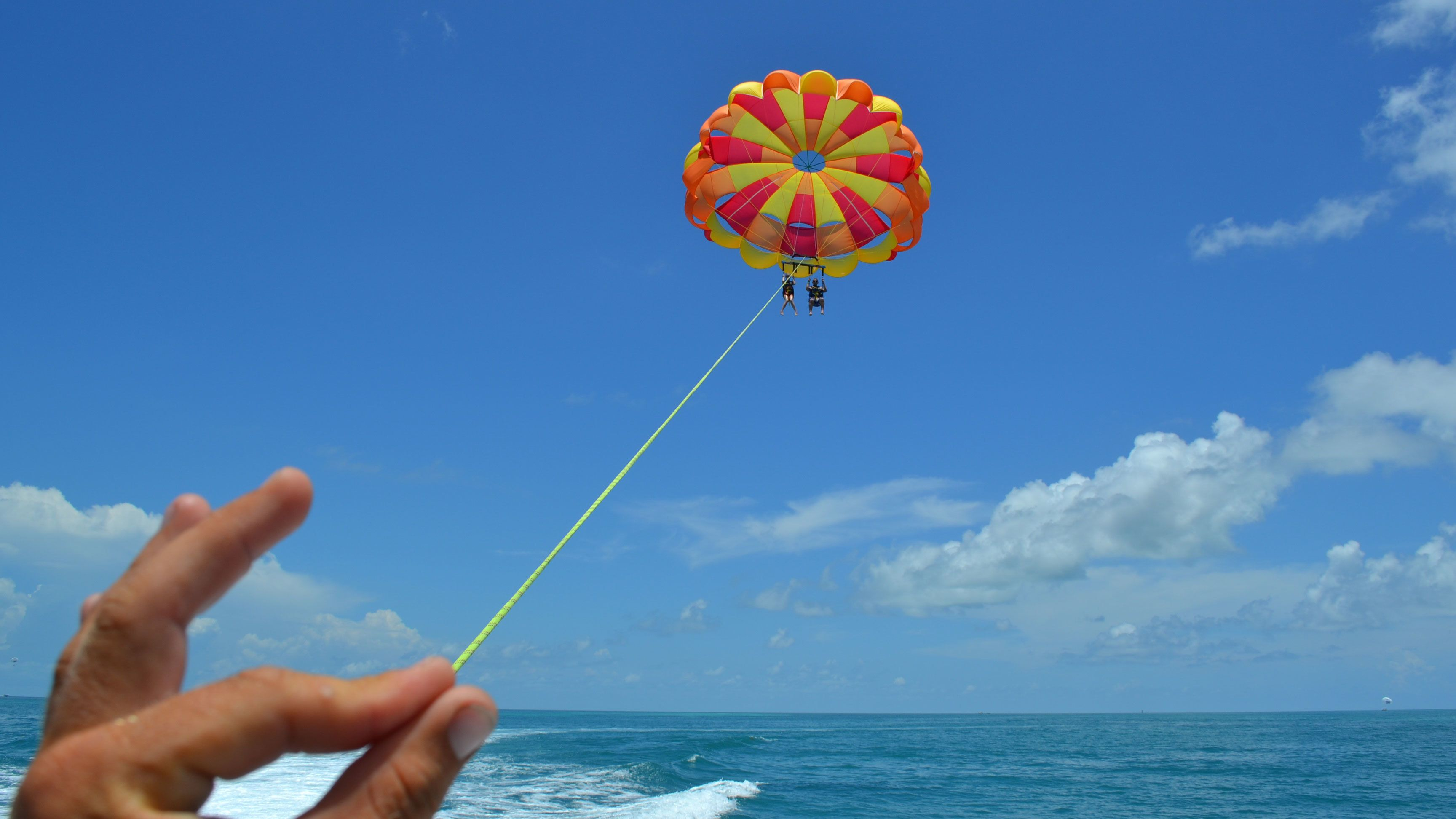 Perfect day for parasailing in Key West