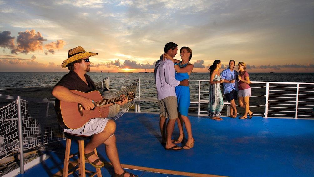 Festivities aboard the sailboat in Key West