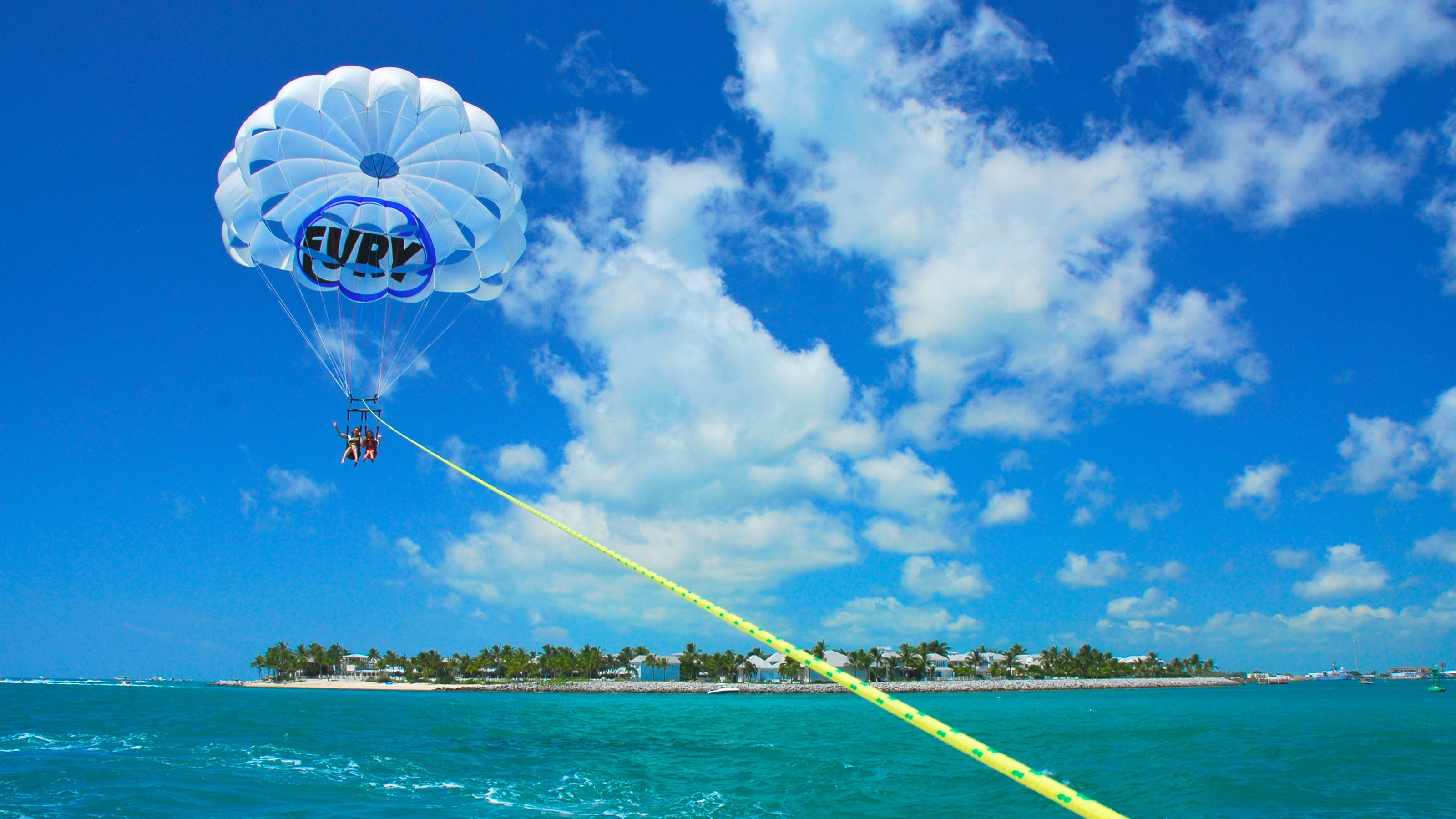 Perfect weather for parasailing in Key West