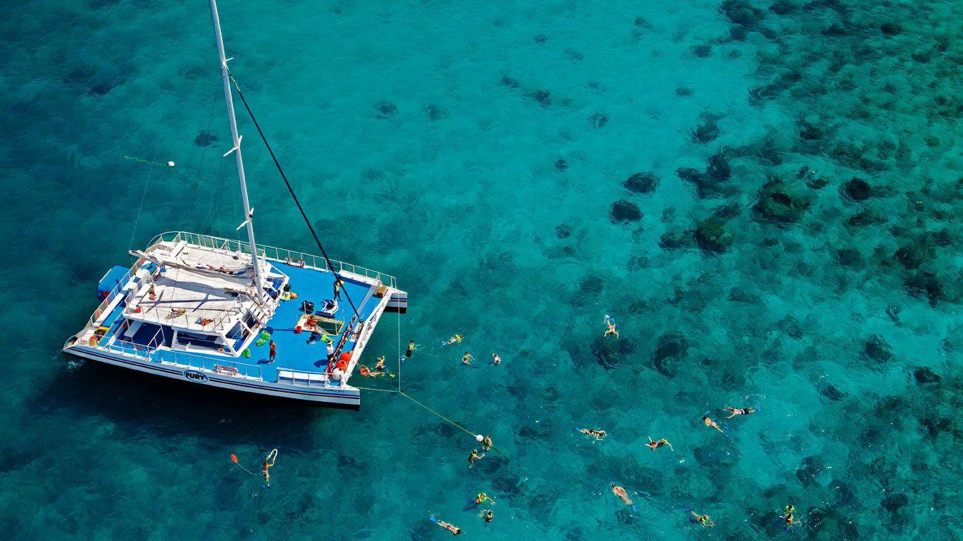 Enjoying the sunny weather snorkeling in Key West