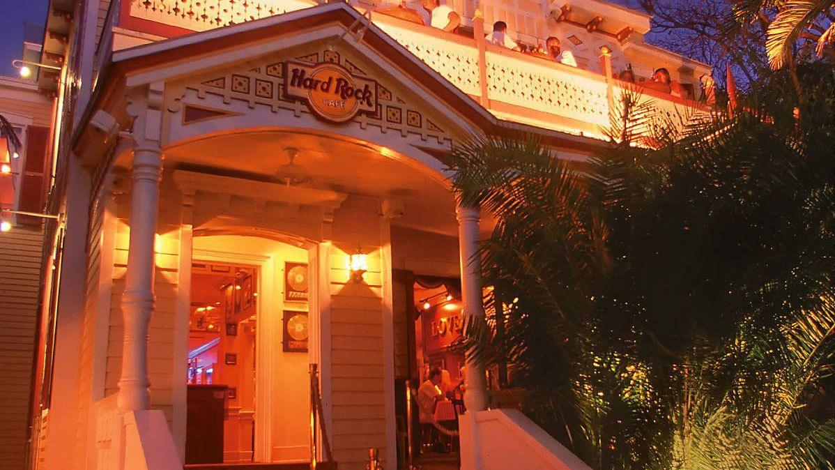 Entering the Hard Rock Cafe in Key West