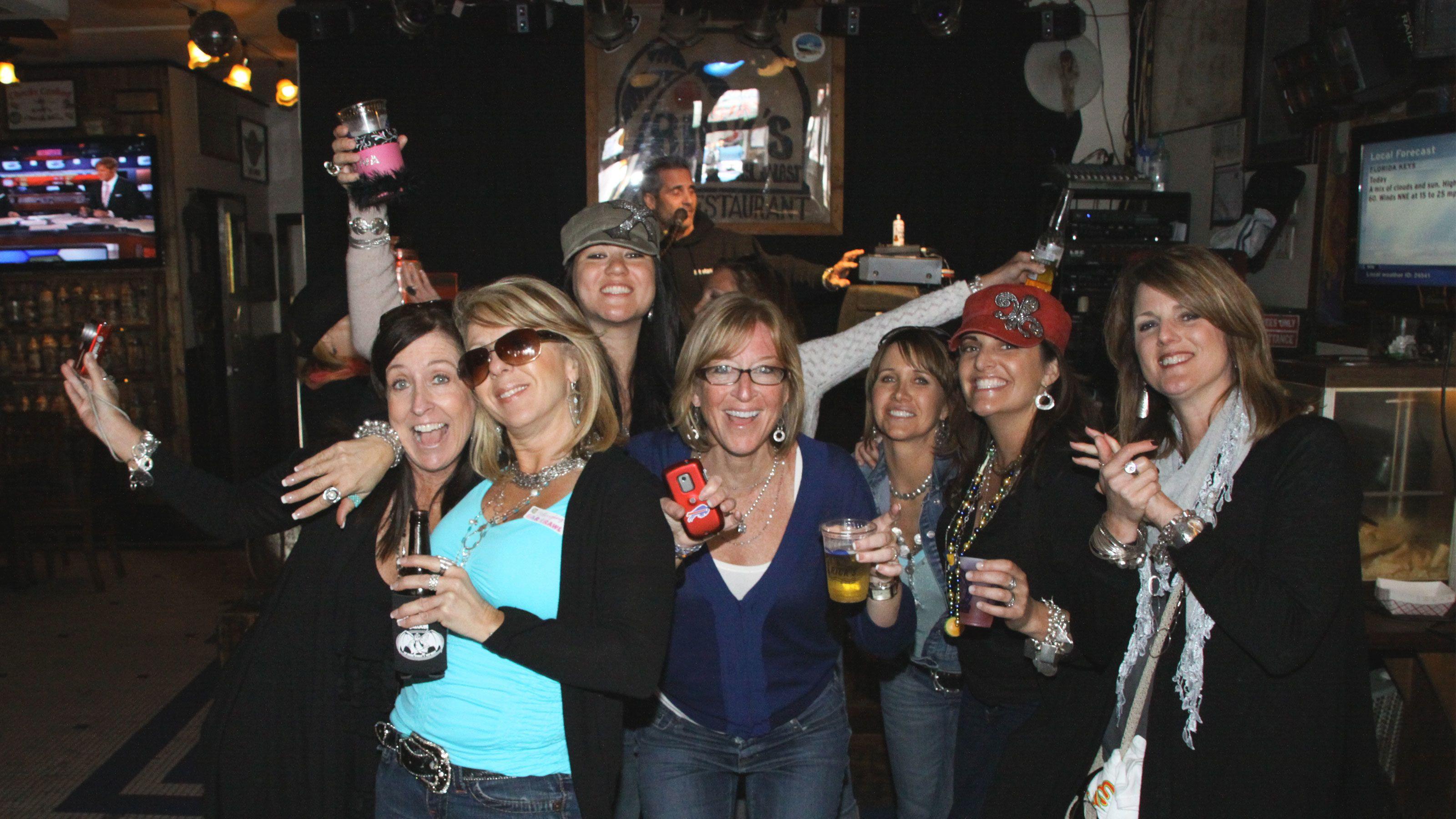 Pub crawlers enjoying their night out in Key West