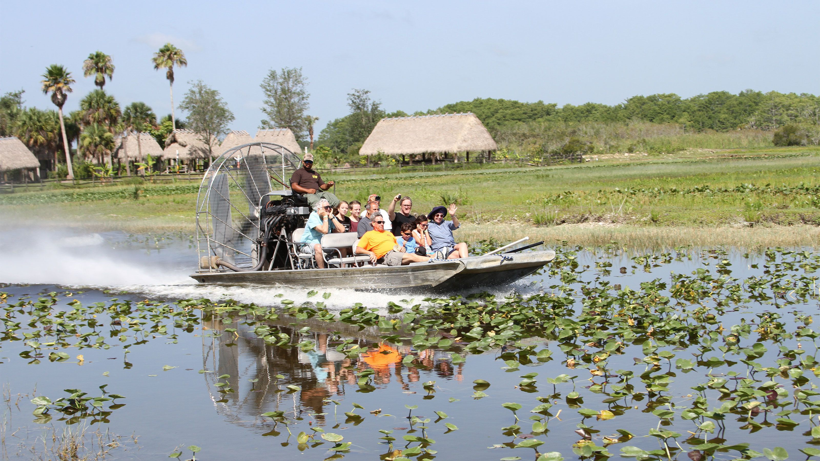 Riding an air boat in Fort Lauderdale