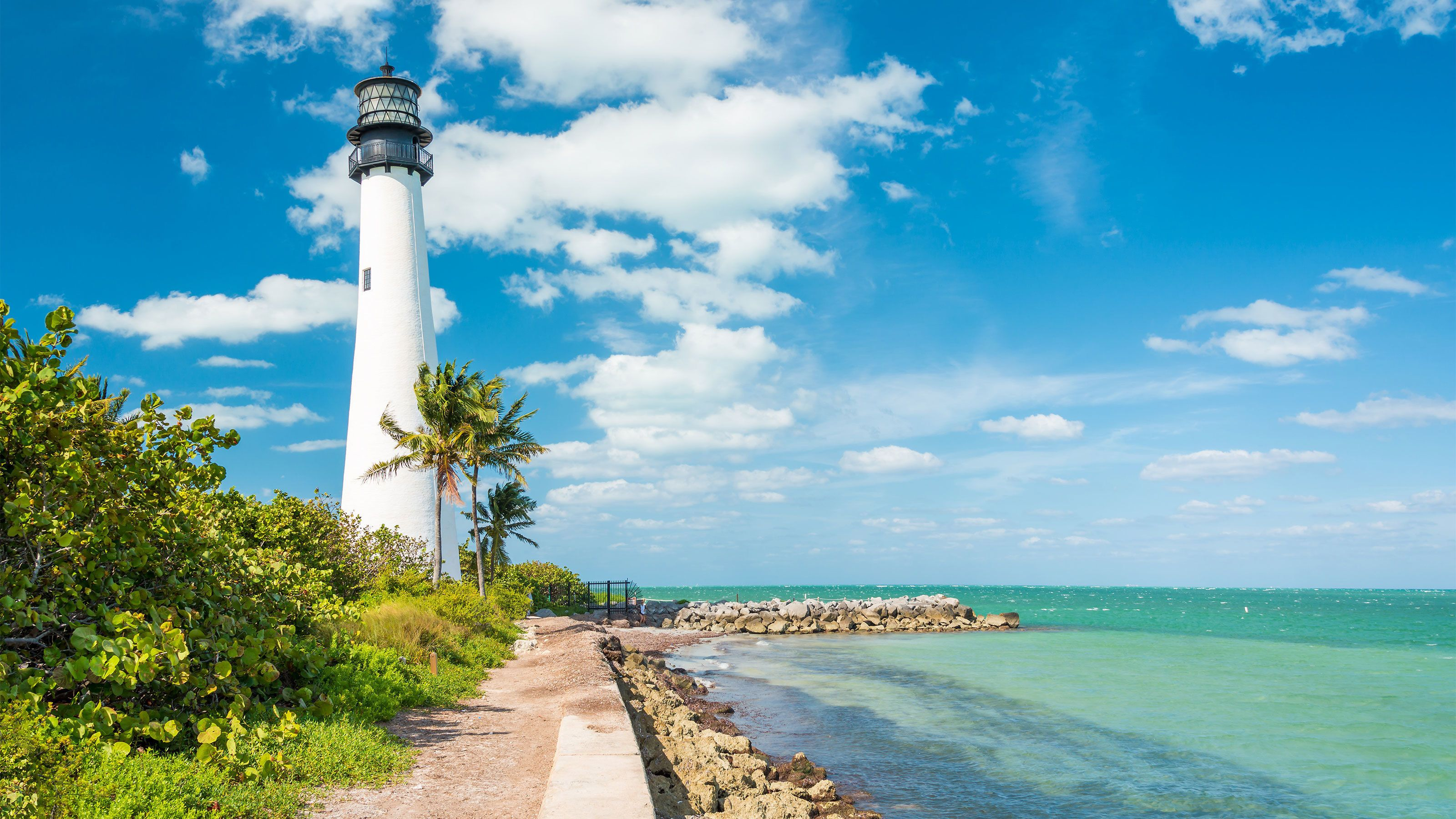 Lighthouse at the Miami beach in Florida