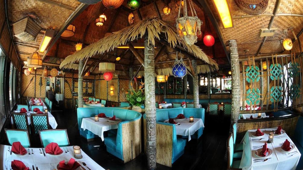 Show item 2 of 10. Seating area at the Mai Kai Polynesian Dinner Show in Fort Lauderdale