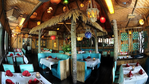 Seating area at the Mai Kai Polynesian Dinner Show in Fort Lauderdale