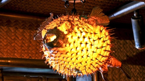 Pufferfish lamp at the Mai Kai Polynesian Dinner Show in Fort Lauderdale