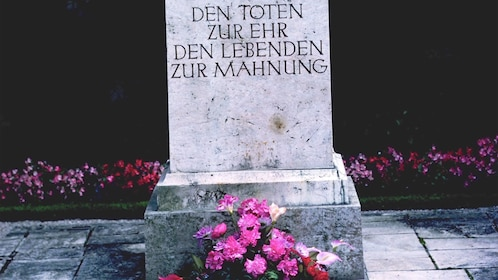 Tombstone of a victim on Dachau Memorial