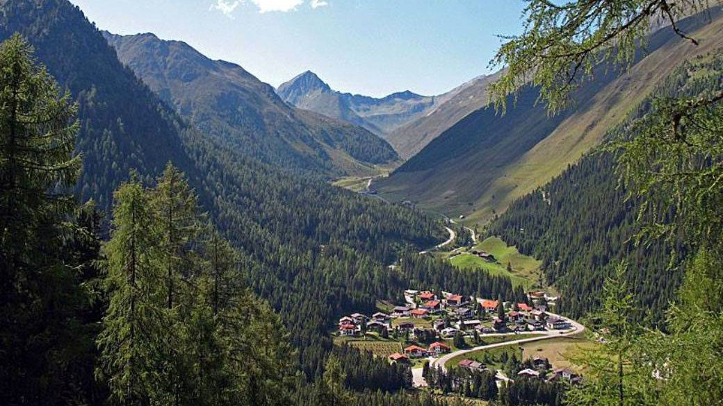 Innsbruck rests in a valley surrounded by the Alps