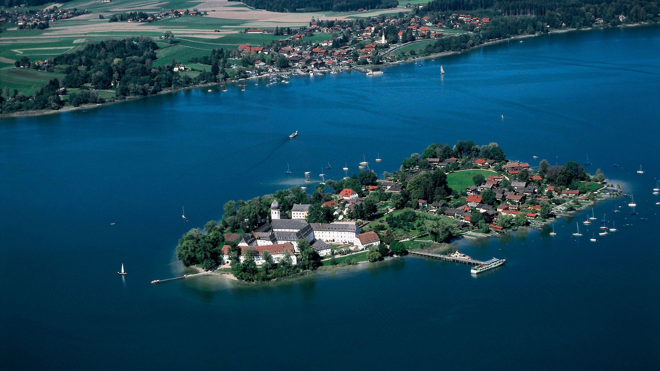 Aerial view of Royal Castle of Herrenchiemsee