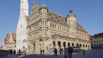 Rothenburg och skippa kön till Burg Harburg: heldagstur
