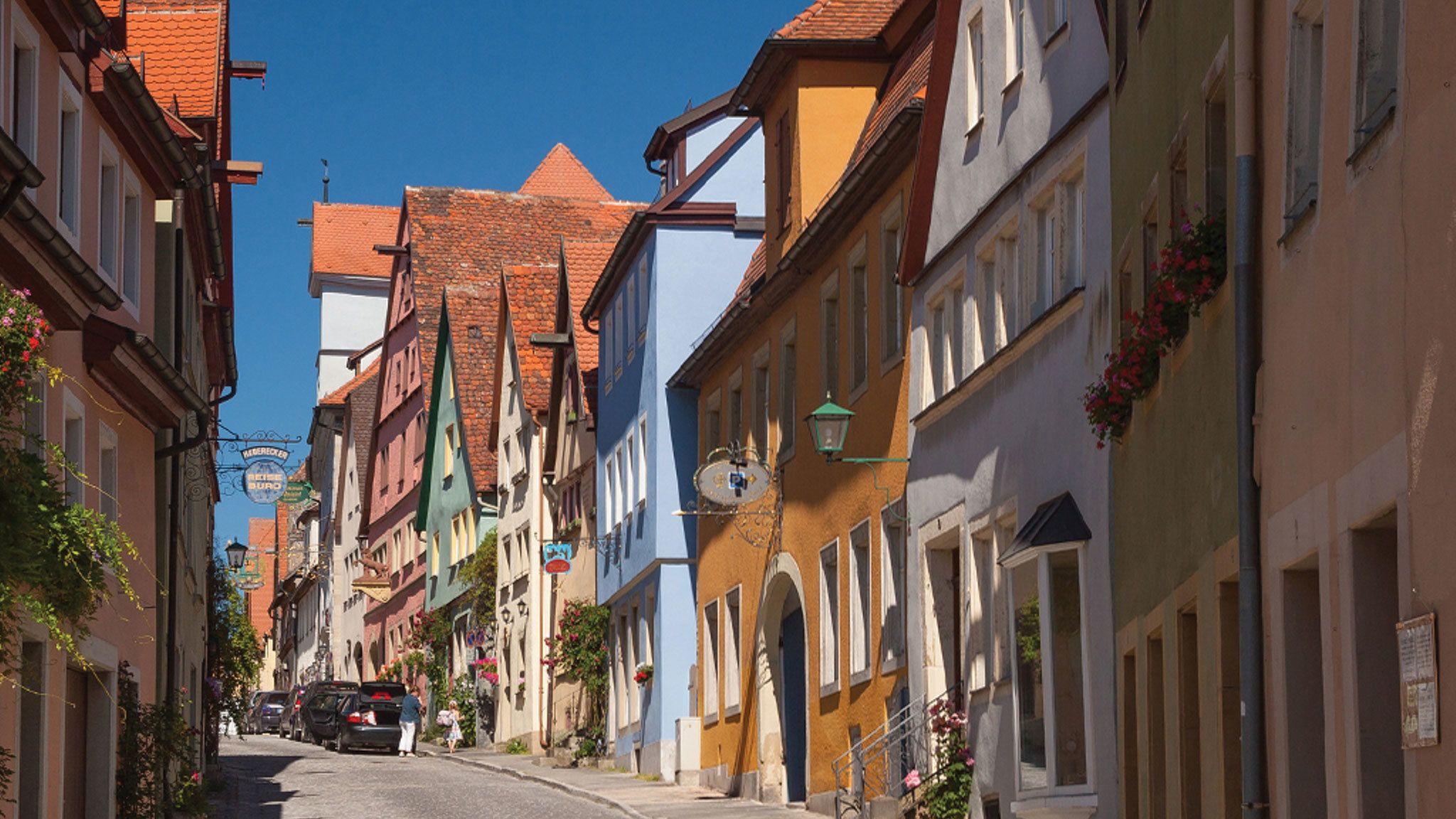 Cobbled streets of Rothenburg, Germany