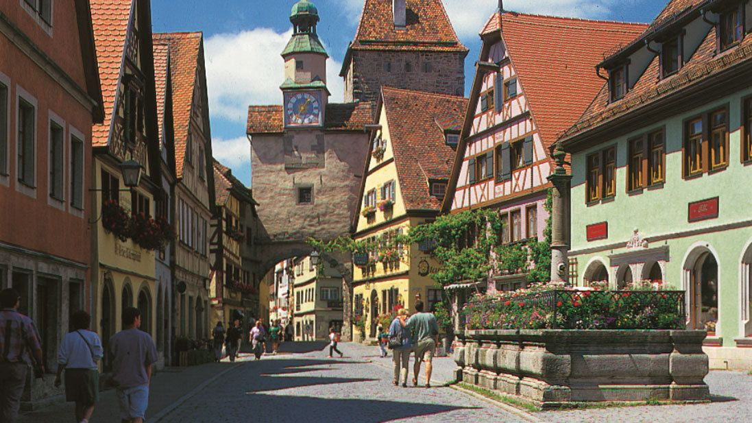 streets of Rothenburg, Germany
