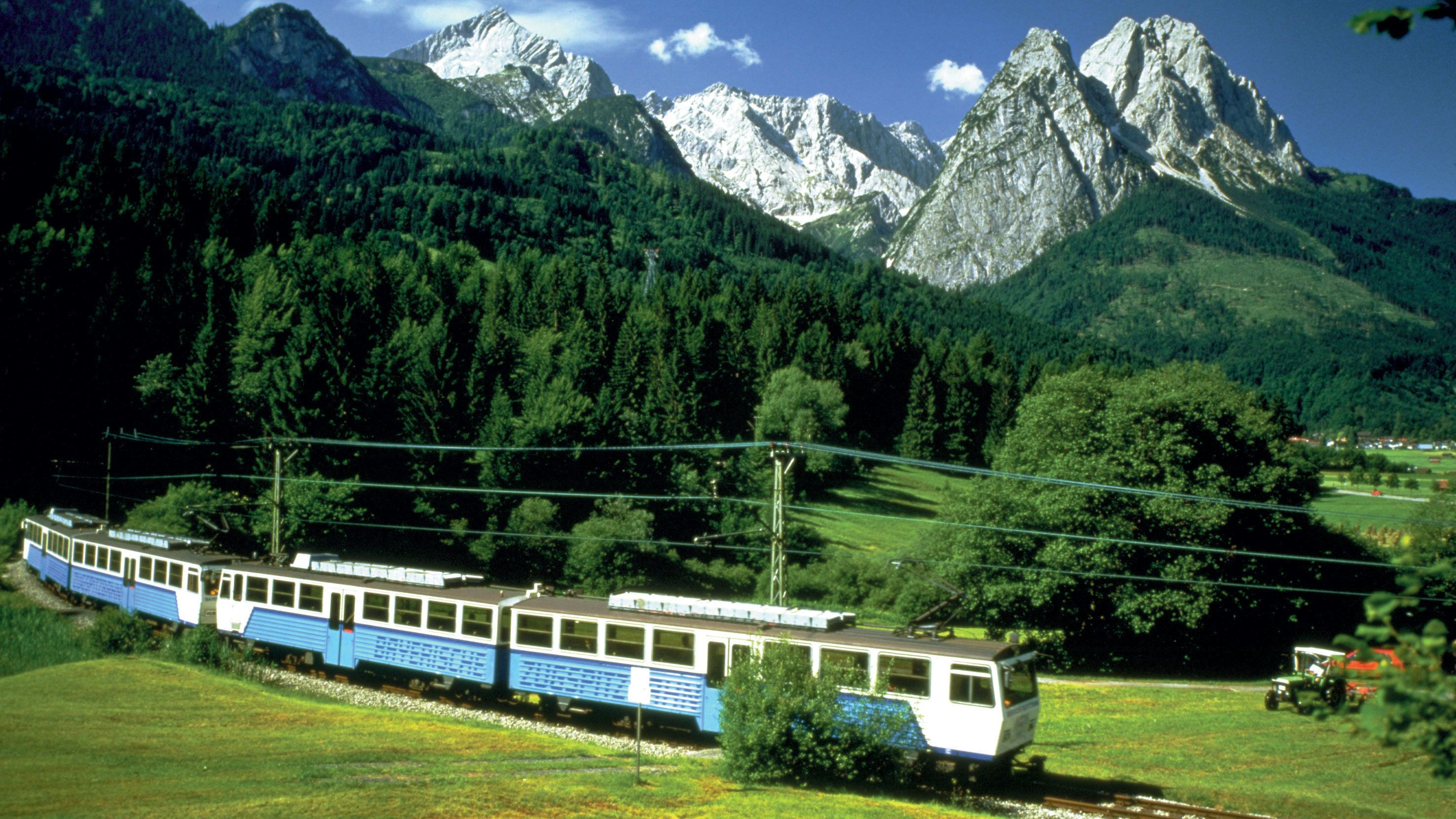 Train tour through Zugspitze, Germany