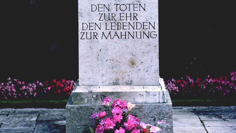 Show item 3 of 5. Tombstone in Dachau Memorial