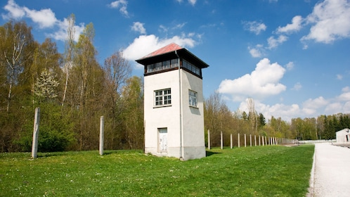 Security post in Dachau Memorial