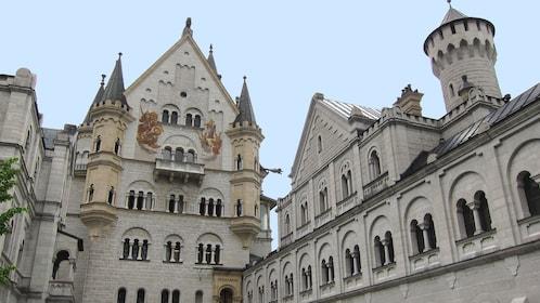 Neuschwanstein Castel interior courtyard