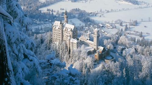 Aerial view of Neuschwanstein Castle