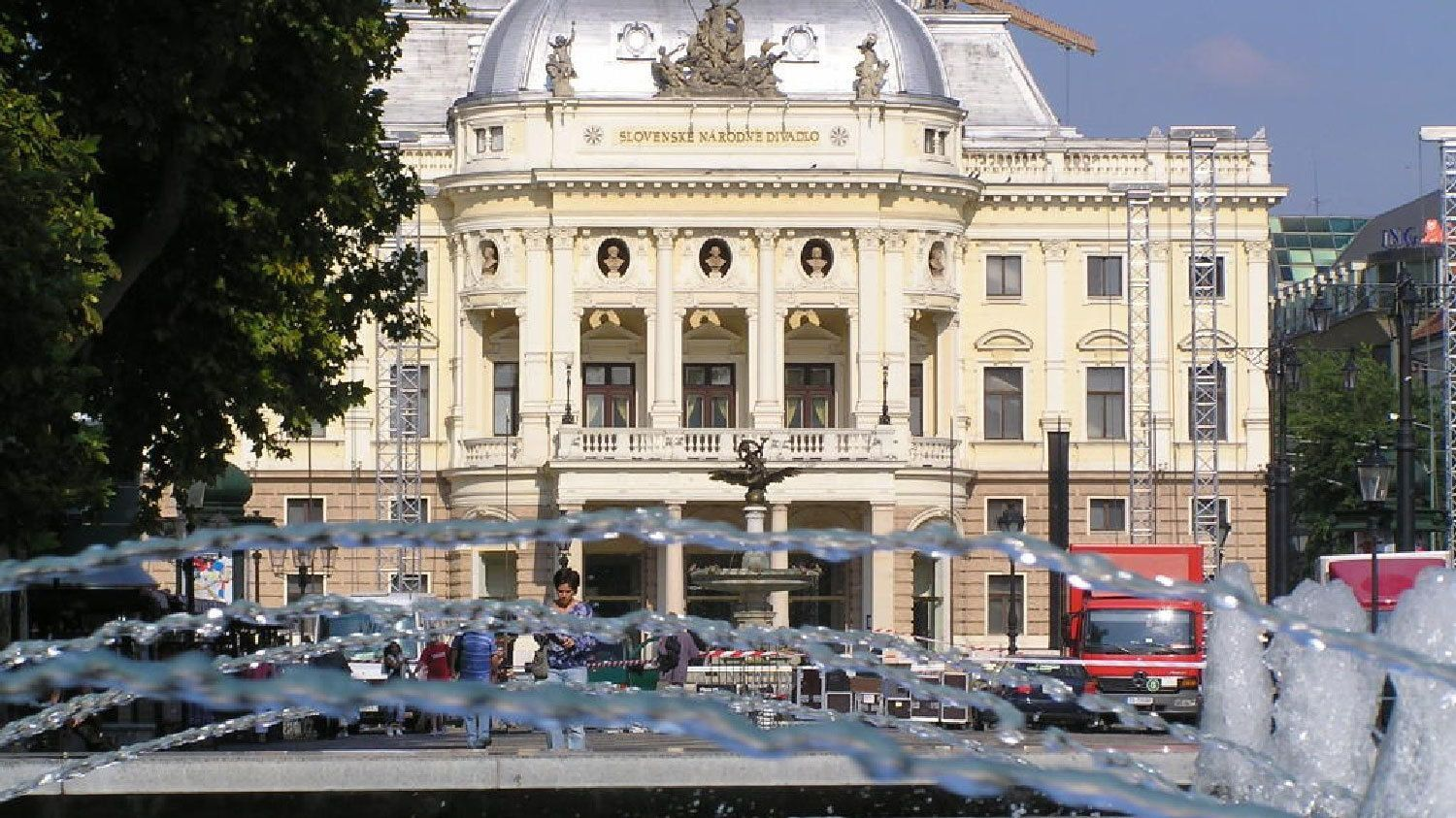 View of the Slovak National Theatre in Bratislava