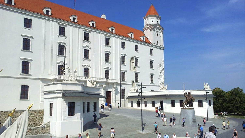 Gorgeous view of the Bratislava Castle in Bratislava