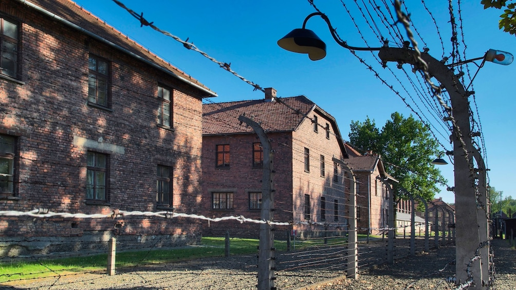 Foto 3 van 9. Day time view of the Auschwitz-Birkenau Concentration Camp in Poland