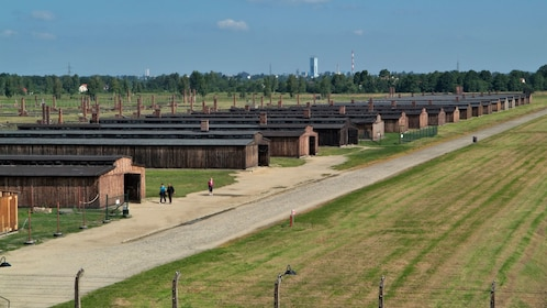 Landscape view of the Auschwitz-Birkenau Concentration Camp in Poland