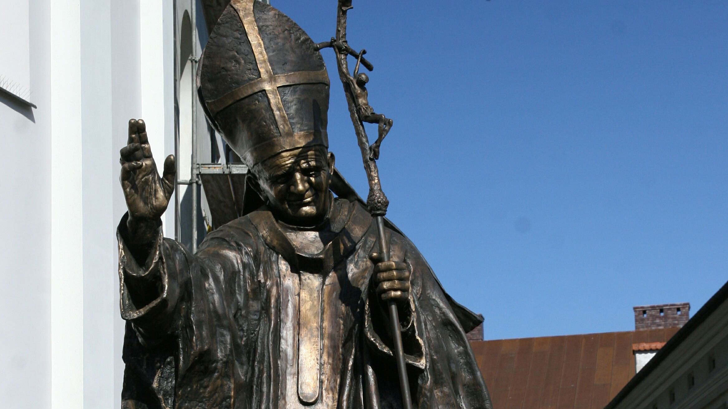 Statue in front of the Blessed Virgin Mary in Poland