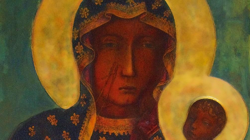 "Åpne bilde 1 av 10. Incredible ""Black Madonna"" painting of Czestochowa"