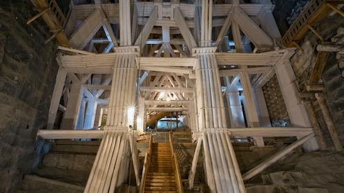 View inside the Wieliczka Salt Mine in Wieliczka