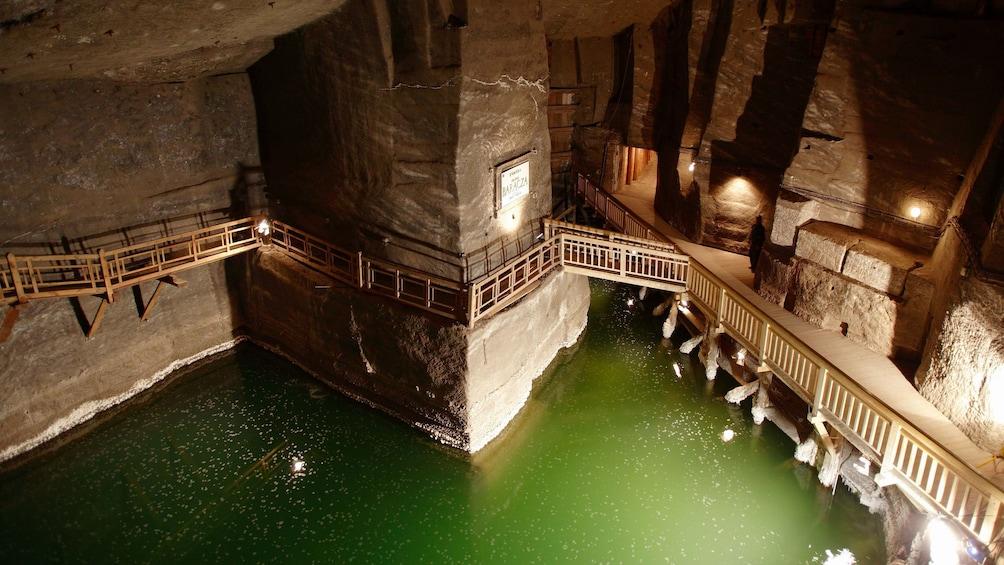 Åpne bilde 2 av 10. A glimpse inside the Wieliczka Salt Mine in Wieliczka