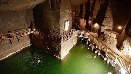 A glimpse inside the Wieliczka Salt Mine in Wieliczka