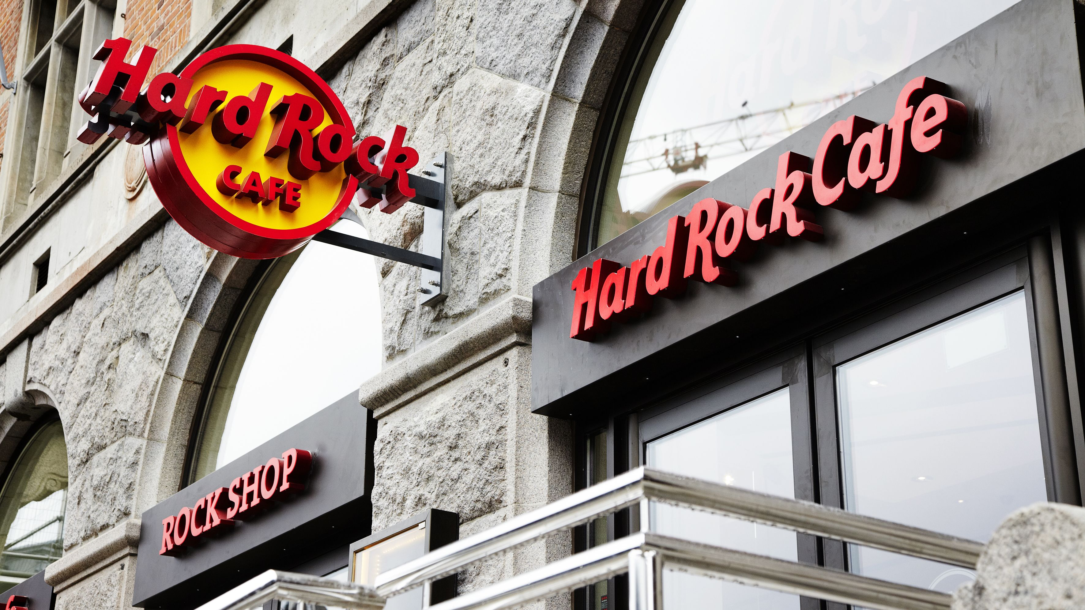 The entrance to the Hard Rock Cafe in Copenhagen