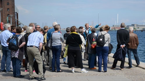 Learning about the history near the bay in Copenhagen