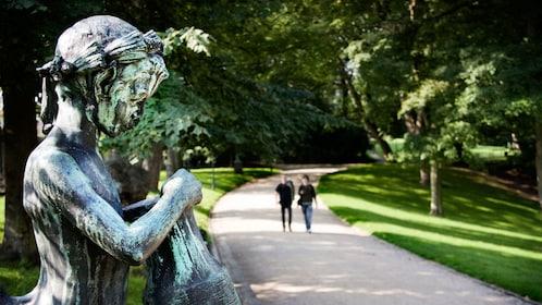 Old statue at the park in Copenhagen