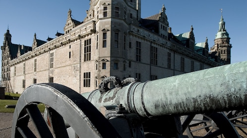 Old cannon outside the Kronborg Castle in Copenhagen