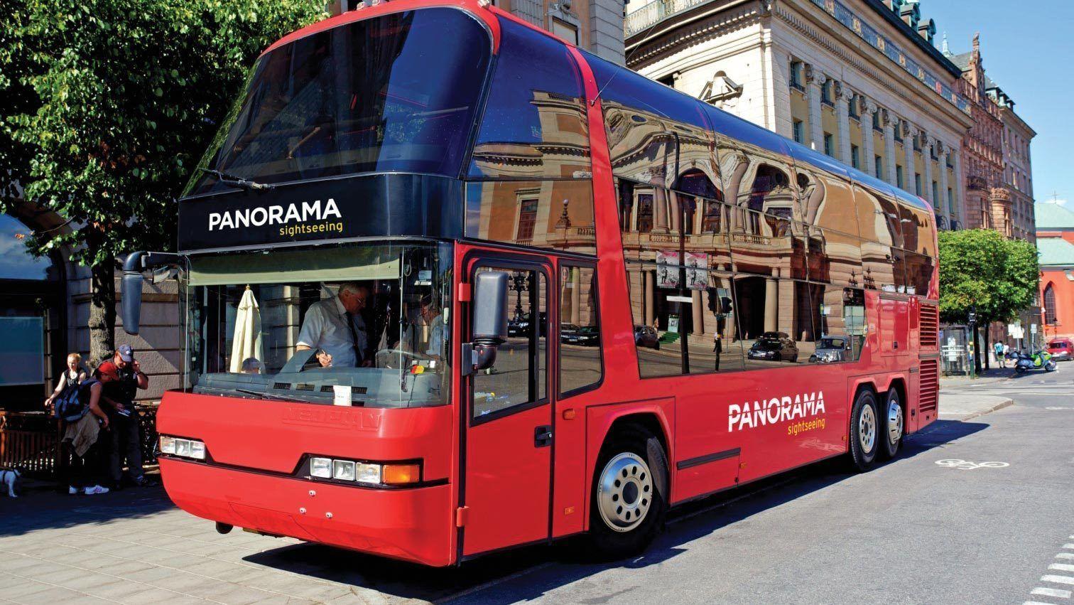 Aboard the double deck bus in Copenhagen
