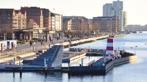Seating at the dock in Copenhagen