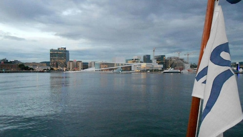 View of Oslo from boat