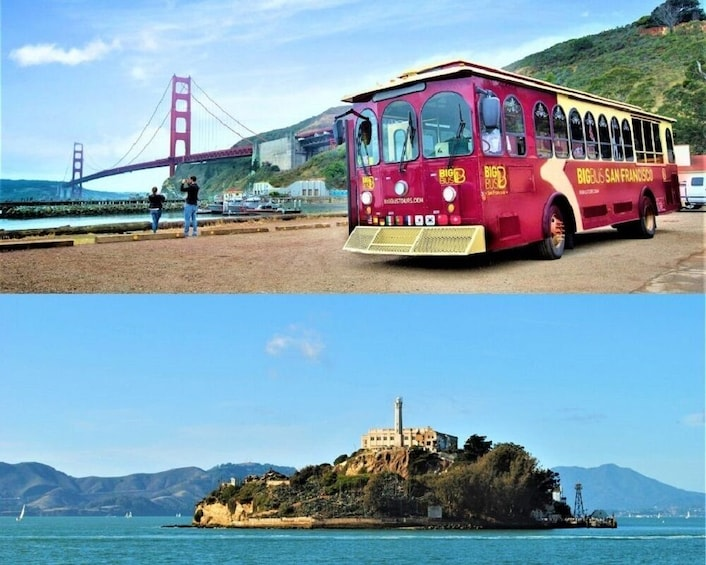 Alcatraz Ticket with Roundtrip Ferry & Hop-On Hop-Off
