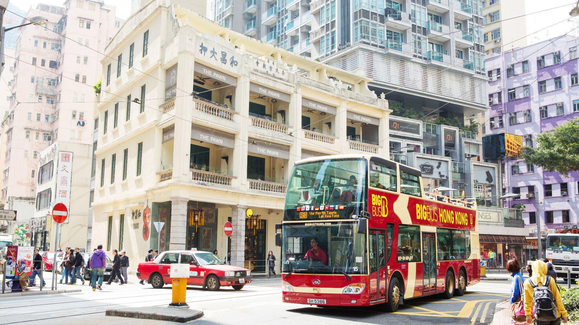 Navigating through the busy city in Hong Kong