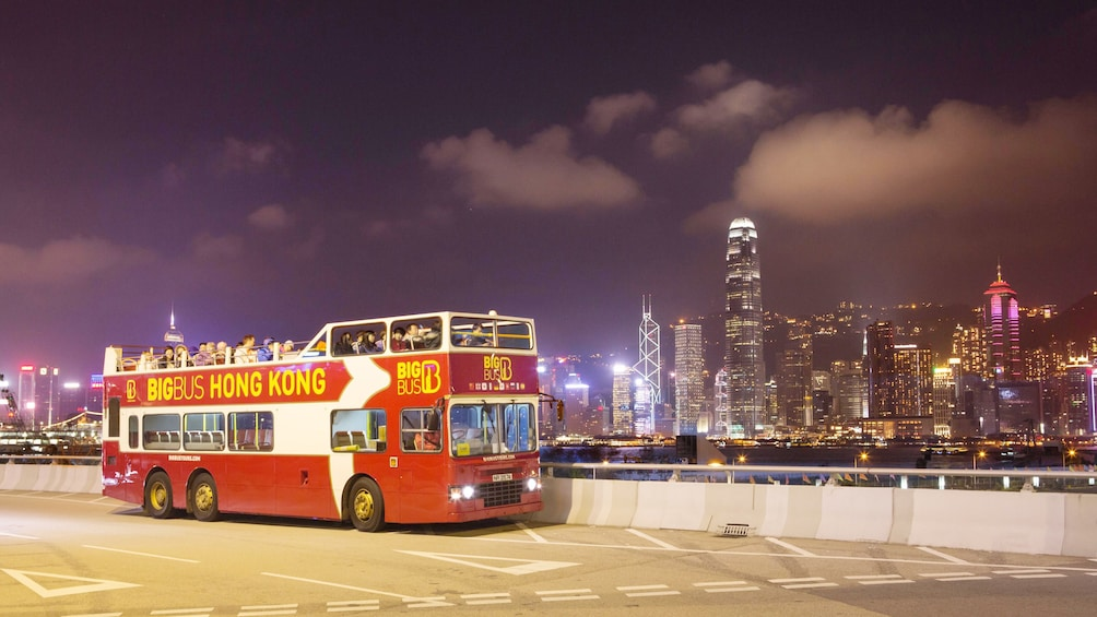 Show item 1 of 10. A great view of the city from the bus in Hong Kong