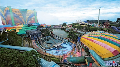 aerial view of theme park in kuala lumpur