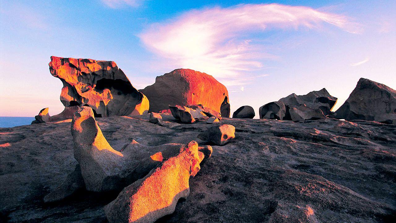 Unique rock formations on Kangaroo Island