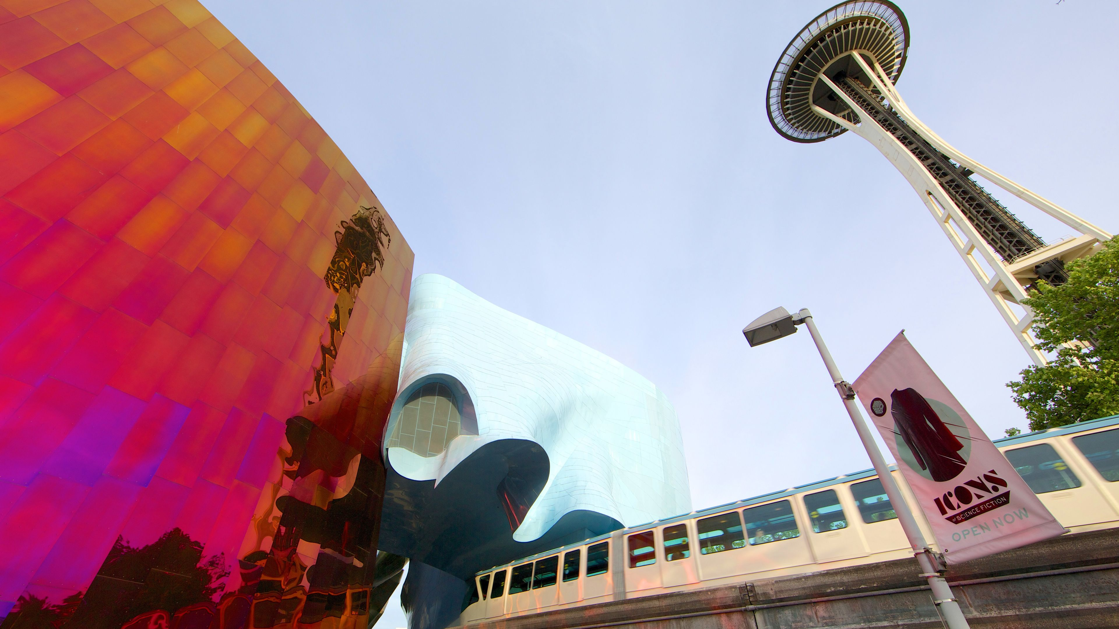 MoPop with Monorail and Space Needle