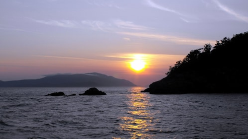 Sunset on the Chuckanut Bay in Washington