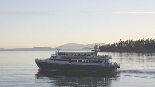 Cruise ship on the Chuckanut Bay in Washington