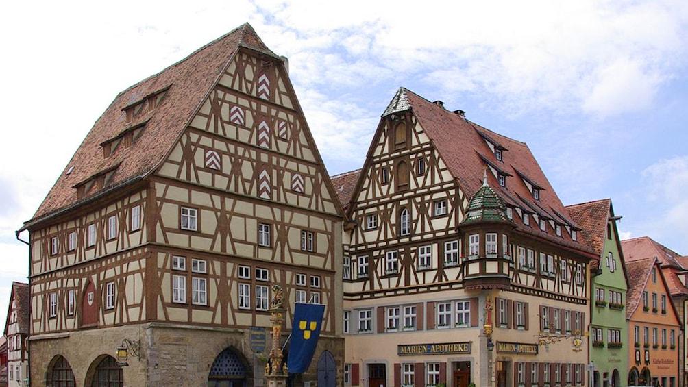 Tall brown buildings in Frankfurt