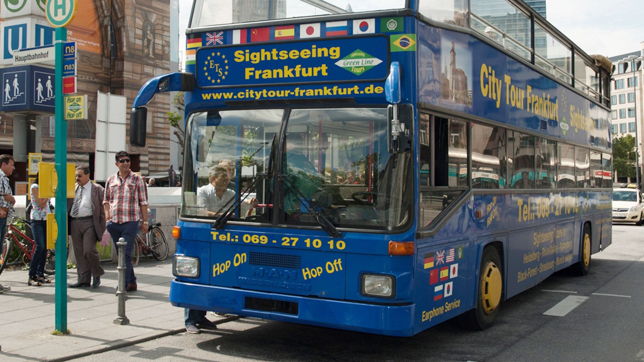 Hop-on-Hop-off-Tour durch Frankfurt