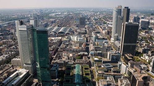 Aerial city view in Frankfurt